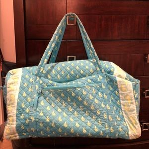 Handbags - Turquoise/yellow quilted duffel bag